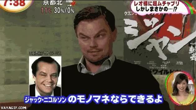 Enlace a Leonardo DiCaprio dando una master class de gesticulación facial
