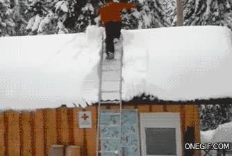 Enlace a ¿Quieres limpiar de nieve tu tejado? ¡Él es tu hombre!