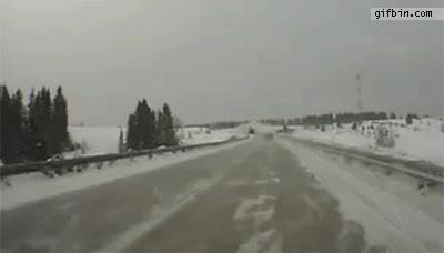 Enlace a Sorpresas en la nieve cuando conduces por Rusia
