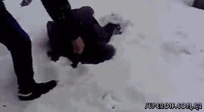 Enlace a Llave de lucha libre en la nieve