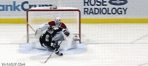 Enlace a Increible gol de hockey sobre hielo