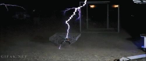 Enlace a Pilotar un helicóptero de radiocontrol entre dos bobinas Tesla, espectacular