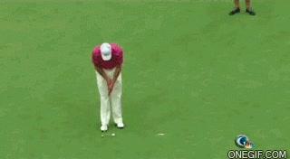 Enlace a O no tiene el día o que golfista más malo