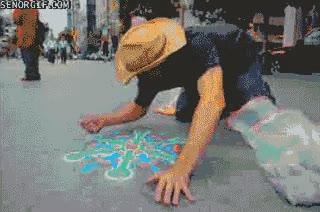 Enlace a Pintando con arena