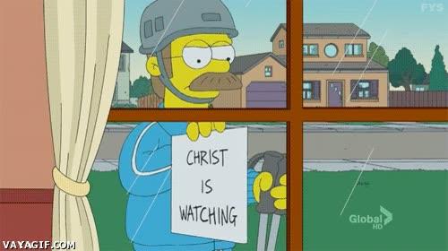 Enlace a Recuerda, Cristo te vigila, especialmente durante la Semana Santa...