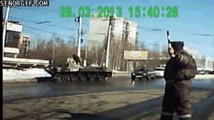 Enlace a ¿Demasiado vodka, amigo conductor de tanques?