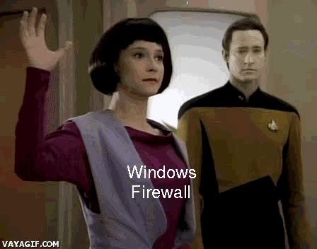 Enlace a Firewall de Windows, descripción gráfica