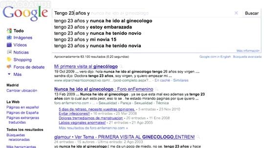 Enlace a Tu vida según Google