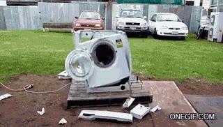 Enlace a Ahora ya sabes cómo destruir una lavadora