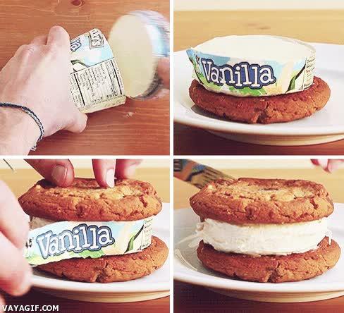 Enlace a Helado de vainilla con galletas, listo en un periquete