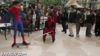 Enlace a No parece que Deadpool y Spiderman sean muy buenos amigos
