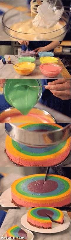 Enlace a Cómo preparar un delicioso pastel arco iris