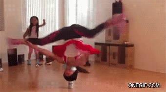 Enlace a Esta chica tiene futuro en el breakdance