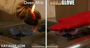 Enlace a ¿Cansado de poner los guantes de cocina en el fuego y que se quemen? ¡Tenemos la solución!