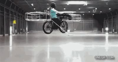 Enlace a El futuro está cada vez más cerca, bicicleta voladora