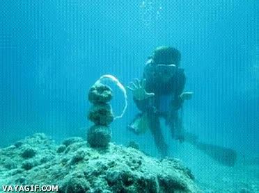 Enlace a Dragon Ball bajo el agua