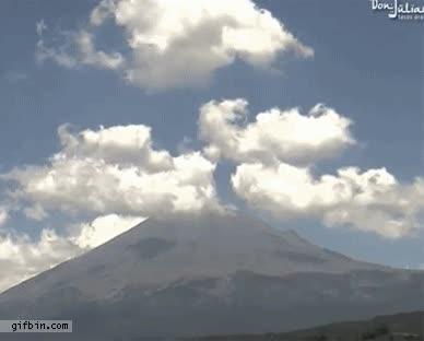 Enlace a Erupción del volcán Popocatépetl