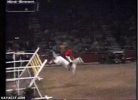 Enlace a Caballo rompiendo récord mundial al saltar más de 2 metros de alto