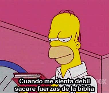 Enlace a La Biblia tiene todo lo que necesitas para encontrar fuerza, Homer lo sabe bien