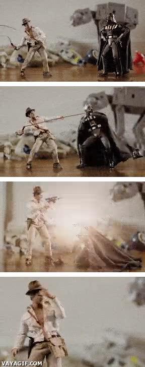 Enlace a Darth Vader vs. Indiana Jones, épico