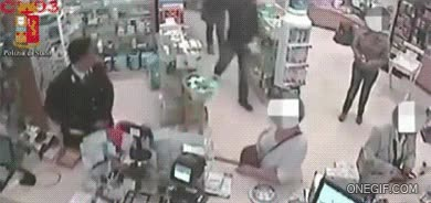Enlace a Antes de atracar una tienda, aségurate que no haya un policía de servicio dentro