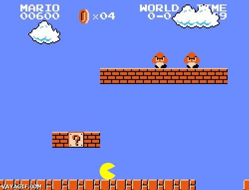 Enlace a ¡He tenido una idea genial, hagamos un Mario Bros con Pacman de protagonista! No, mejor no...