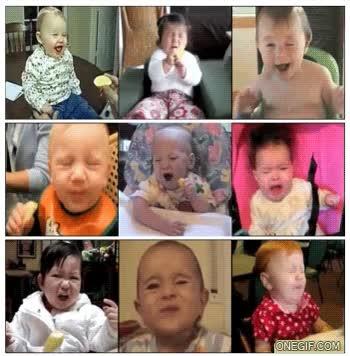 Enlace a Reacción a un limón: bebés
