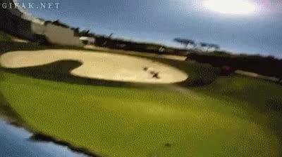 Enlace a Esto es lo que pasa cuando se golpea una pelota de golf con una cámara incorporada