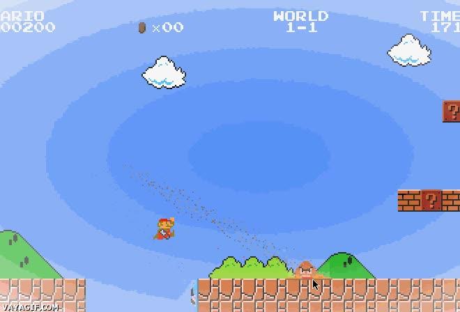 Enlace a Si Super Mario tuviera la pistola de Portal, se acabó eso de caer al vacío