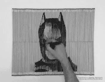 Enlace a Batman y Joker, arte con lápices