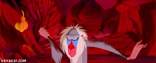 Enlace a Si algo aprendí en El Rey León es que no debes meterte con un mandril cabreado