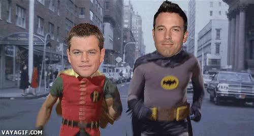 Enlace a 'Batman' Affleck y 'Robin' Damon, no sé, pero hay algo que no me convence