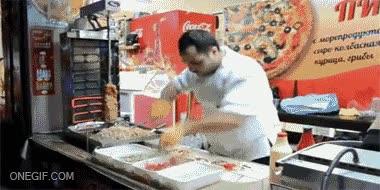 Enlace a Podrás encontrar kebabs más buenos, pero nunca hechos más rapido