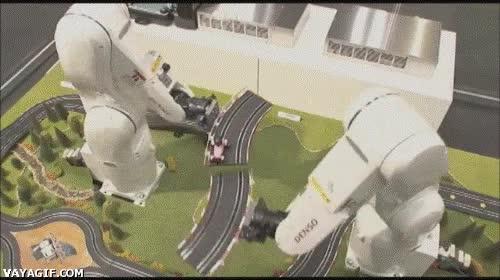 Enlace a El scalextric robótico infinito