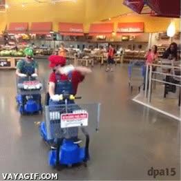 Enlace a Mario Kart en el supermercado