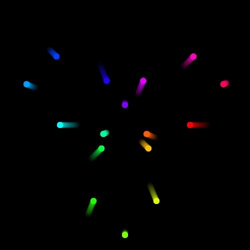 Enlace a En esta imagen no hay rotación, los puntos sólo se mueven en líneas rectas