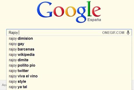 Enlace a Rajoy según Google