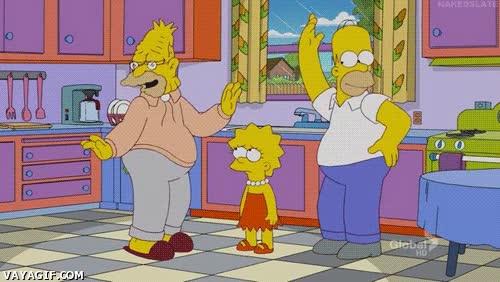 Enlace a Lecciones de vida en Los Simpson, si estás desanimado sólo baila