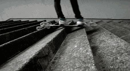Enlace a Longboard preparado para bajar escaleras