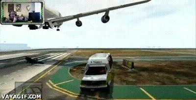 Enlace a ¿Puedes desestabilizar el despegue de un avión con tu coche en el GTA V? Parece que sí