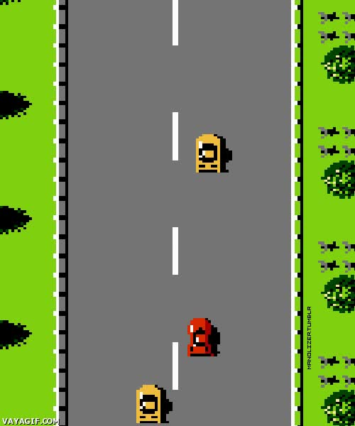 Enlace a Nostalgia en estado puro, Road Fighter para NES