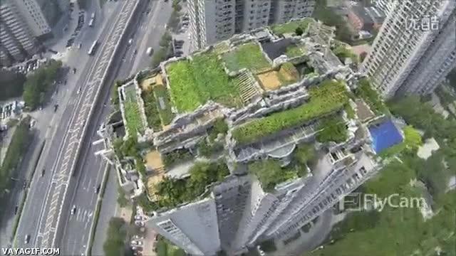 Enlace a Jardín espectacular en rascacielos chino