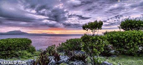 Enlace a Time lapse de una puesta de sol