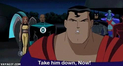 Enlace a ¡Vamos amigos, todos los que podáis volar, seguidme! Batman, tú ve preparándonos la cena...