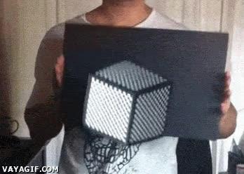 Enlace a Un momento, espera, ¿pero cómo lo haces para que flote ese cubo?