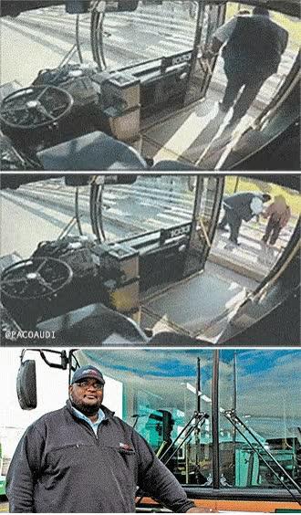Enlace a Conductor de autobús salva a una mujer de suicidarse, ¡héroe!