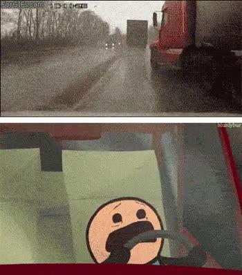 Enlace a Auténtico terror al volante