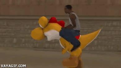 Enlace a ¿Para que robar un coche si puedes tener tu propio Yoshi amarillo?