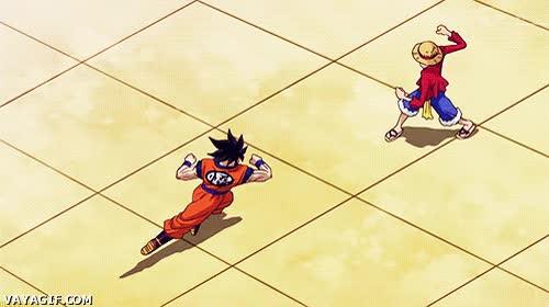 Enlace a Goku vs Luffy, todos sabíamos que uno de los dos no acabarían bien
