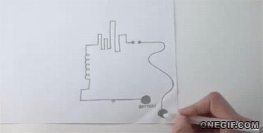 Enlace a Circuit Scribe, un bolígrafo que te permite dibujar circuitos eléctricos de forma instantánea